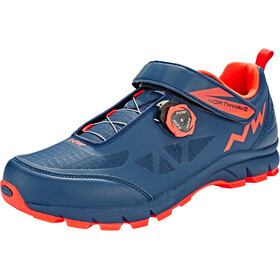Northwave Corsair Shoes Herre blue/lobster orange